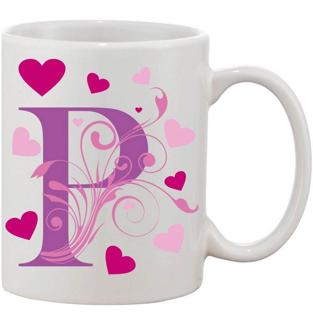 Crazy Sutra Classic P Love Printed Ceramic Coffee/Milk Mug   Funky  Coffee/Milk Mug (White, 11 oz)