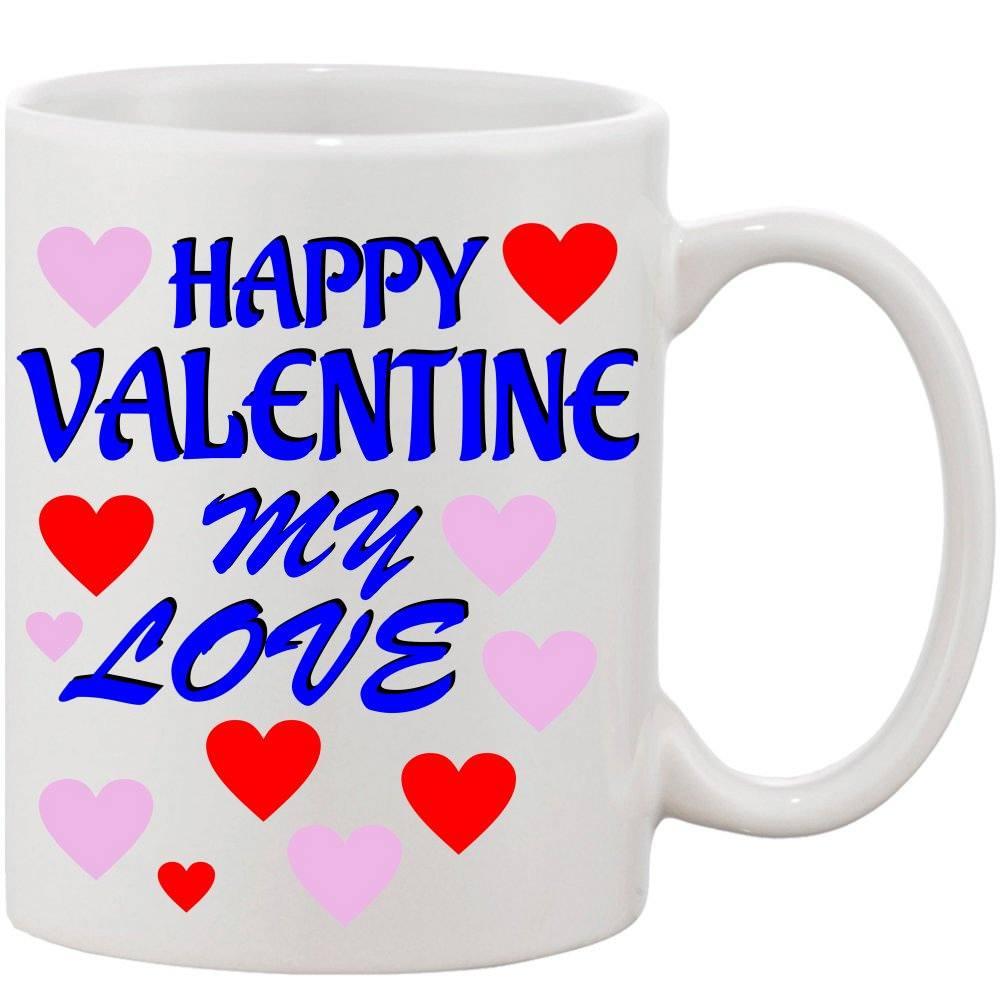 Crazy Sutra Classic Happy Valentine Printed Ceramic Coffee/Milk Mug | Funky  Coffee/Milk Mug (White, 11 oz)