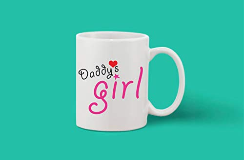 Crazy Sutra Classic Printed Ceramic Coffee/Milk Mug | Funky One Liner Coffee/Milk Mug (Mug-Daddy'sGirl)
