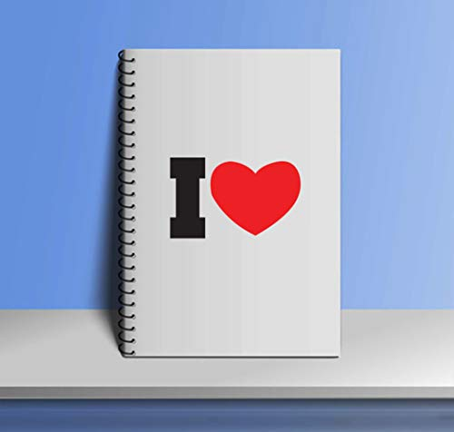 Crazy Sutra Single Ruled Printed Cover Spiral Bound Premium Notebook for Personal Diary, Doodle, Notes, Planner - A5 Size, 100pages (Note-IHeart6)