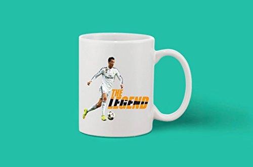 Crazy Sutra Classic Printed Special Football The Legend Ceramic Coffee/Milk Mug | Funky One Liner Coffee/Milk Mug (Mug-TheLegend)