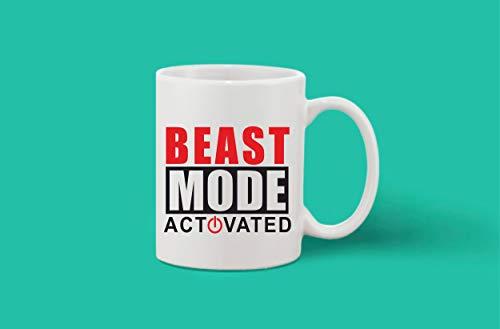 Crazy Sutra Classic Printed Ceramic Coffee/Milk Mug | Funky One Liner Coffee/Milk Mug (Mug-BeastModeActivated)