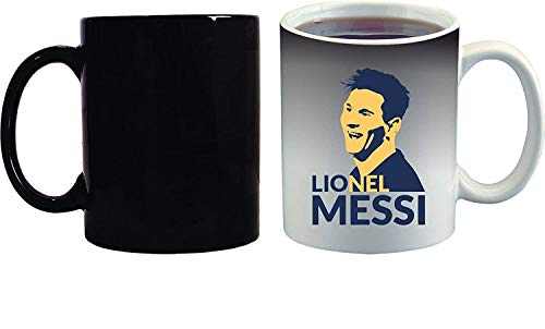 Crazy Sutra Classic Special Football Printed Lionel Messi Ceramic Funky One Liner Coffee Mug/Milk Mug, Black (MugMagic-LionelMessi)