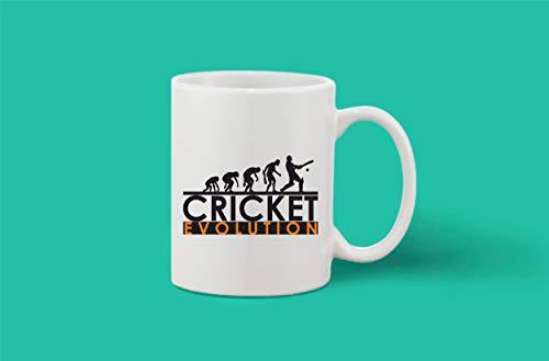 Crazy Sutra Classic Printed Ceramic Coffee/Milk Mug | Funky One Liner Coffee/Milk Mug (Mug-CricketEvolution)