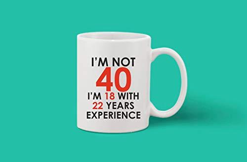 Crazy Sutra Classic Printed Ceramic Coffee/Milk Mug | Funky One Liner Coffee/Milk Mug (Mug-I'm Not40_1)