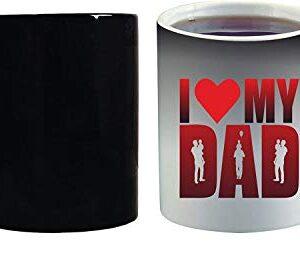 Crazy Sutra Classic Special Father's Day Printed Ceramic Funky One Liner Coffee Mug/Milk Mug, Black (MugMagic-ILoveMyDad)