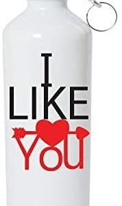 Crazy Sutra Classic Printed Water Bottle/Sipper White - 600Ml (Sipper-ILikeYou2)