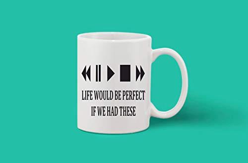 Crazy Sutra Classic Printed Ceramic Coffee/Milk Mug | Funky One Liner Coffee/Milk Mug (Mug-LifeWouldBePerfect)