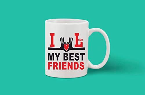 Crazy Sutra Classic Printed Ceramic Coffee/Milk Mug | Funky One Liner Coffee/Milk Mug (Mug-ILoveMyBFrnds)