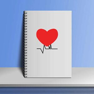 Crazy Sutra Single Ruled Printed Cover Spiral Bound Premium Notebook for Personal Diary, Doodle, Notes, Planner - A5 Size, 100pages (Note-Heart6)