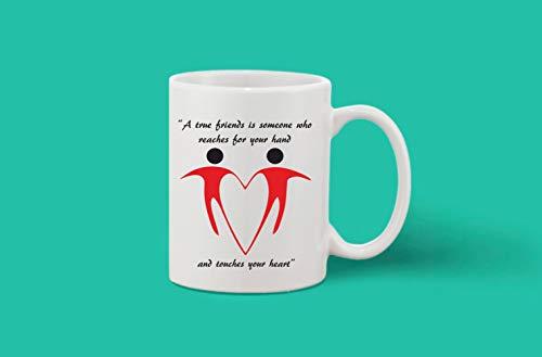 Crazy Sutra Classic Printed Ceramic Coffee/Milk Mug   Funky One Liner Coffee/Milk Mug (Mug-ATrueFrnd)