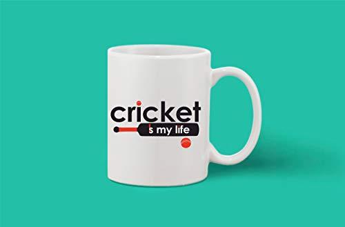 Crazy Sutra Classic Printed Ceramic Coffee/Milk Mug   Funky One Liner Coffee/Milk Mug (Mug-CricketIsMyLife_1)
