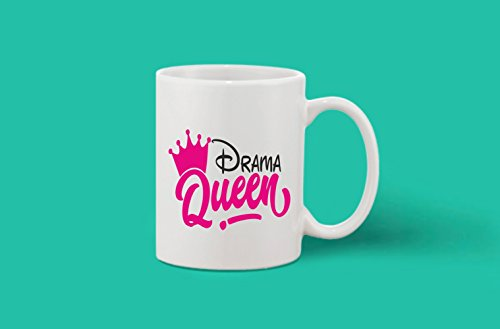 Crazy Sutra Classic Printed Drama Queen Ceramic Coffee/Milk Mug | Funky One Liner Coffee/Milk Mug (Mug-DramaQueen_C)