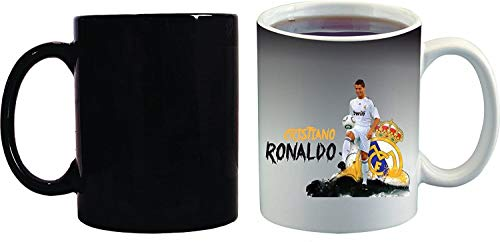 Crazy Sutra Classic Special Football Printed CristianoRonaldo Ceramic Funky One Liner Coffee Mug/Milk Mug, Black (MugMagic-CristianoRonaldo_C)