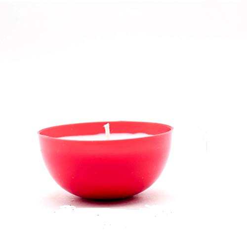 Crazy Sutra Red Diya Candle Pack of 2Pc Burning Time 15-20 Hour