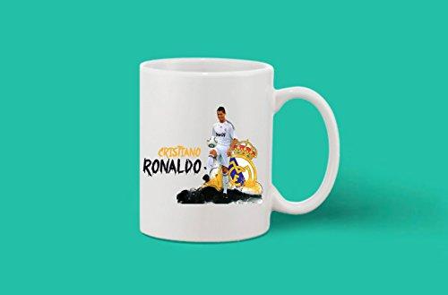 Crazy Sutra Classic Printed Football Special Cristiano Ronaldo Ceramic Coffee/Milk Mug | Funky One Liner Coffee/Milk Mug (Mug-CristianoRonaldo)