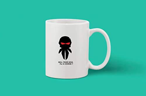 Crazy Sutra Classic Printed Ceramic Coffee/Milk Mug (Mug-SellYourSoul)