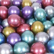 """Crazy Sutra 10"""" Multicolor Chrome Balloons for Birthdays, Anniversaries , Weddings, Functions and Party Occassions (Pack of 50pc)"""
