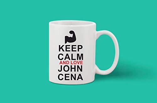Crazy Sutra Classic Printed Ceramic Coffee/Milk Mug | Funky One Liner Coffee/Milk Mug (Mug-KeepCalmAndLoveJCena_1)