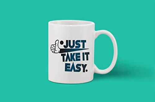 Crazy Sutra Classic Printed Ceramic Coffee/Milk Mug (Mug-JustTakeItEasy1)