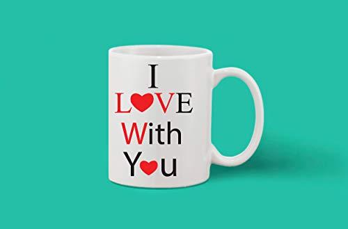 Crazy Sutra Classic Printed Ceramic Coffee/Milk Mug (Mug-ILoveWithYou)