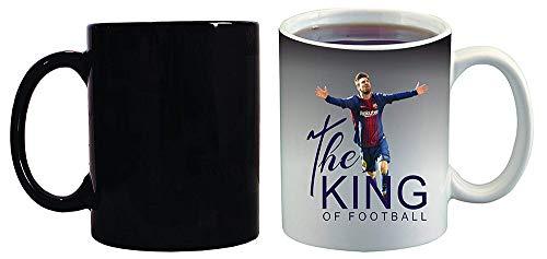 Crazy Sutra Classic Special Football Printed The King of Football Ceramic Funky One Liner Coffee Mug/Milk Mug, Black (MugMagic-TheKingOfFootBall)