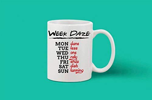 Crazy Sutra Classic Week Daze1 Printed Ceramic Milk/Coffee Mug(11oz)