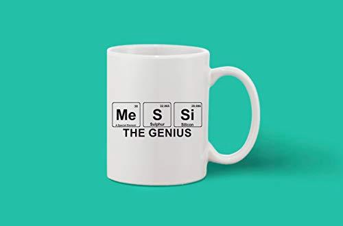 Crazy Sutra Classic Printed Ceramic Coffee/Milk Mug (Mug-Messi Genius)