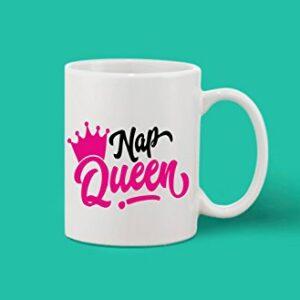 Crazy Sutra Classic Printed Nap Queen Ceramic Coffee/Milk Mug | Funky One Liner Coffee/Milk Mug (Mug-NapQueen_C)