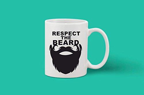 Crazy Sutra Classic Printed Beard Special Ceramic Coffee/Milk Mug | Funky One Liner Coffee/Milk Mug (Mug-RespectTheBeard_C)