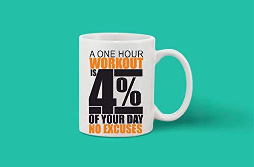 Crazy Sutra Classic Printed Ceramic Coffee/Milk Mug | Funky One Liner Coffee/Milk Mug (Mug-AOneHrWorkOut)