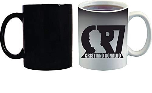 Crazy Sutra Classic Special Football Printed CR7CristianoRonaldo Ceramic Funky One Liner Coffee Mug/Milk Mug, Black (MugMagic-CR7CristianoRonaldo_C)