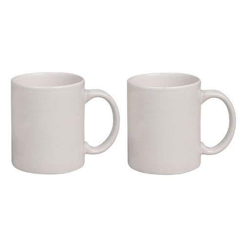 Crazy Sutra Sublimation Classic Mug White Plain Ceramic Coffee/Milk Mug (MUG-WhitePlain2Pc1)