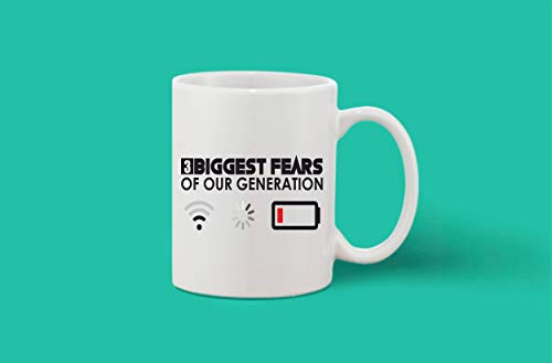 Crazy Sutra Classic Printed Ceramic Coffee/Milk Mug | Funky One Liner Coffee/Milk Mug (MUG-3BiggestFears1)