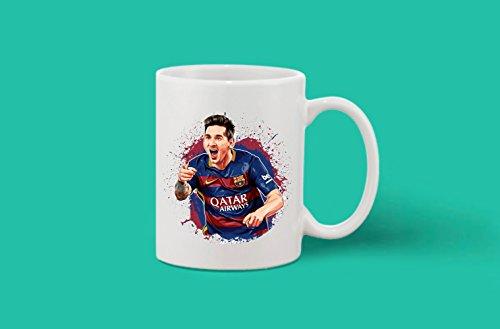 Crazy Sutra Classic Printed Special Football Ceramic Coffee/Milk Mug | Funky One Liner Coffee/Milk Mug (Mug-MessiImeg_C)