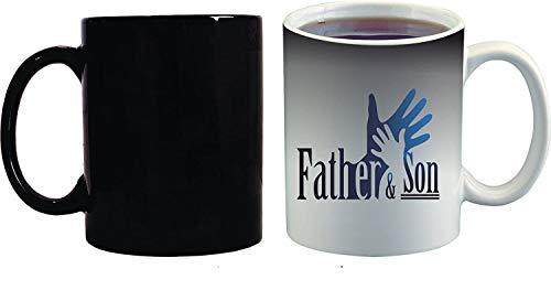 Crazy Sutra Classic Special Father's Day Printed Ceramic Funky One Liner Coffee Mug/Milk Mug, Black (MugMagic-Father&Son_C)