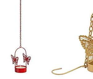 Crazy sutra Butterfly Hanging Metal Butterfly Tea Light Holder Random Colors as per Availability Combo Set 3pc