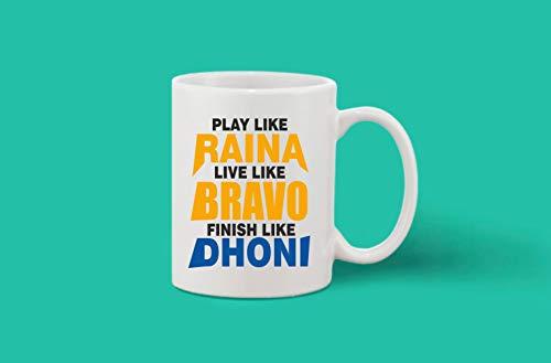 Crazy Sutra Classic Printed Ceramic Coffee/Milk Mug | Cricket Cricket Special/Milk Mug (Mug-PlayLikeRaina)