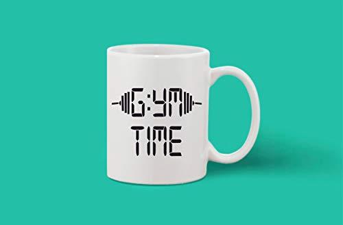Crazy Sutra Classic Printed Ceramic Coffee/Milk Mug | Funky One Liner Coffee/Milk Mug (Mug-GymTime)