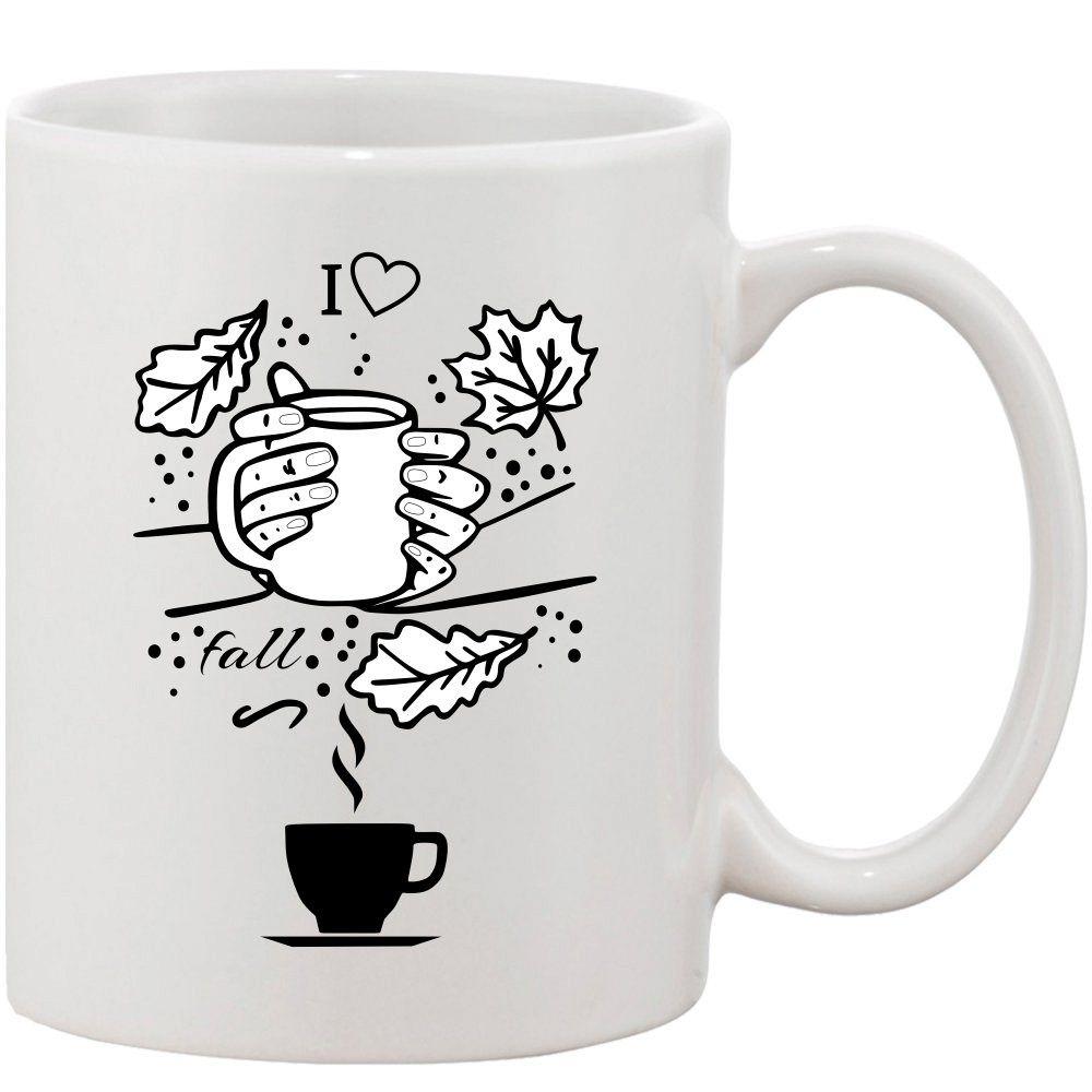 Crazy Sutra Classic I Love Fall Printed Ceramic Coffee/Milk Mug | Funky  Coffee/Milk Mug (White, 11 oz)