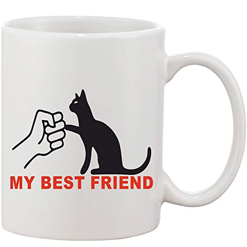 Crazy Sutra Classic Printed Ceramic Coffee/Milk Mug | Funky One Liner Coffee/Milk Mug (Mug-MyBestFriend)