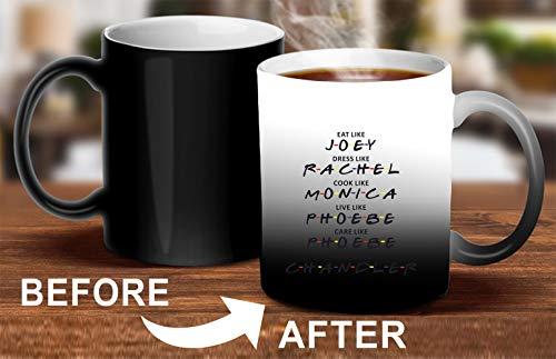 Crazy Sutra Classic Printed Ceramic Magic Mug - Coffee Mug/Milk Mug, Black (Mug-MagicEatLikeJoey5)