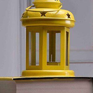 Crazy sutra Lanterns Small Hanging Lantern Tea Light Holder Colors Yellow