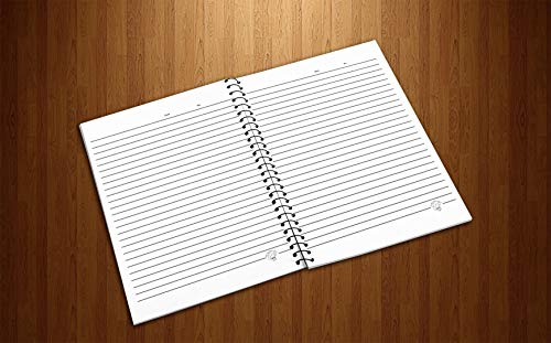 Crazy Sutra Single Ruled Printed Cover Spiral Bound Premium Notebook for Personal Diary, Doodle, Notes, Planner - A5 Size, 100pages (Note-HalfAHeart3)