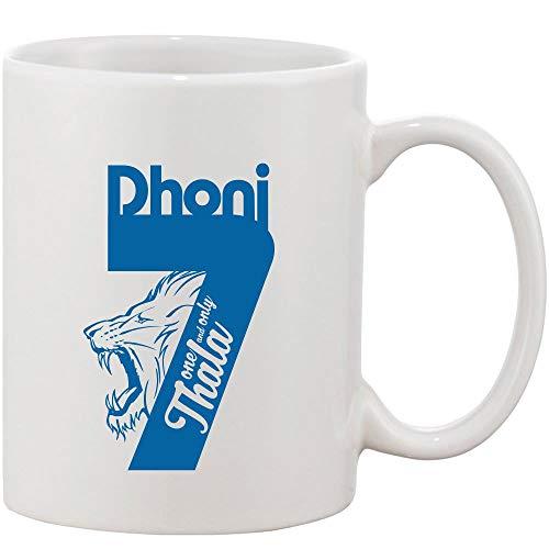 Crazy Sutra Classic Printed Ceramic Coffee/Milk Mug   Cricket Cricket Special/Milk Mug (Mug-1&OnlyThala)