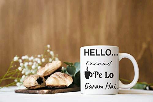 Crazy Sutra Classic Hello Friends1 Printed Ceramic Milk/Coffee Mug(11oz)
