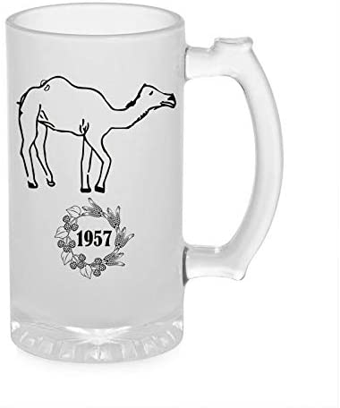 Crazy Sutra Funny and Cool Quote Camel1957-1 Printed Clear Frosted Glass Beer Mug for Friends/Brother/Boyfriend (500ml)