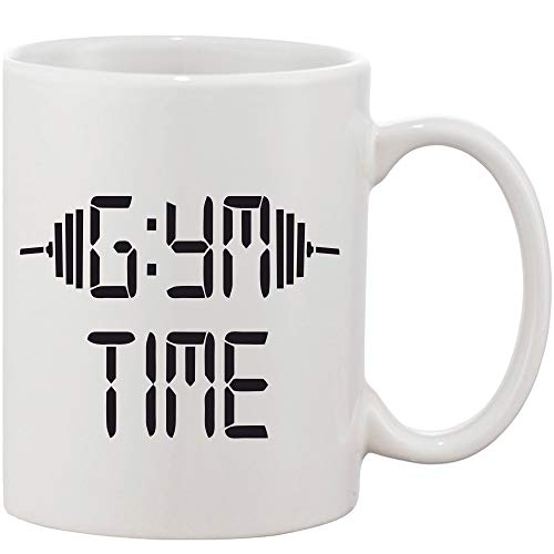 Crazy Sutra Classic Printed Ceramic Coffee/Milk Mug   Funky One Liner Coffee/Milk Mug (Mug-GymTime)