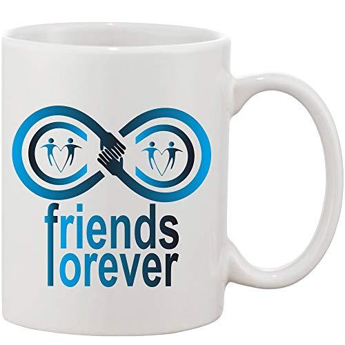 Crazy Sutra Classic Printed Ceramic Coffee/Milk Mug | Funky One Liner Coffee/Milk Mug (Mug-FriendsForever_1)