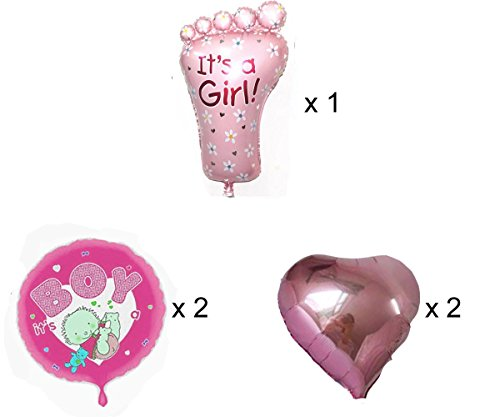 Crazy Sutra Party Decoration Foil Balloon Its A Girl Foil Balloon for Baby Shower (Pack of 5 pc)